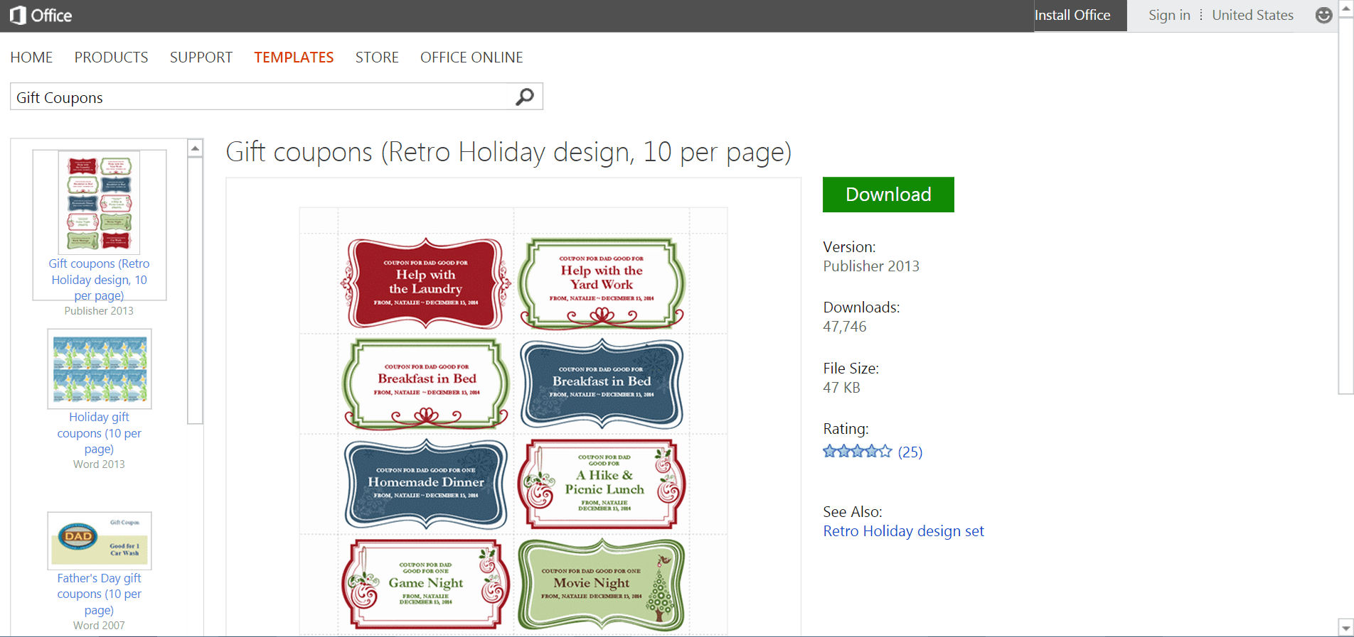 microsofts best free diy christmas templates