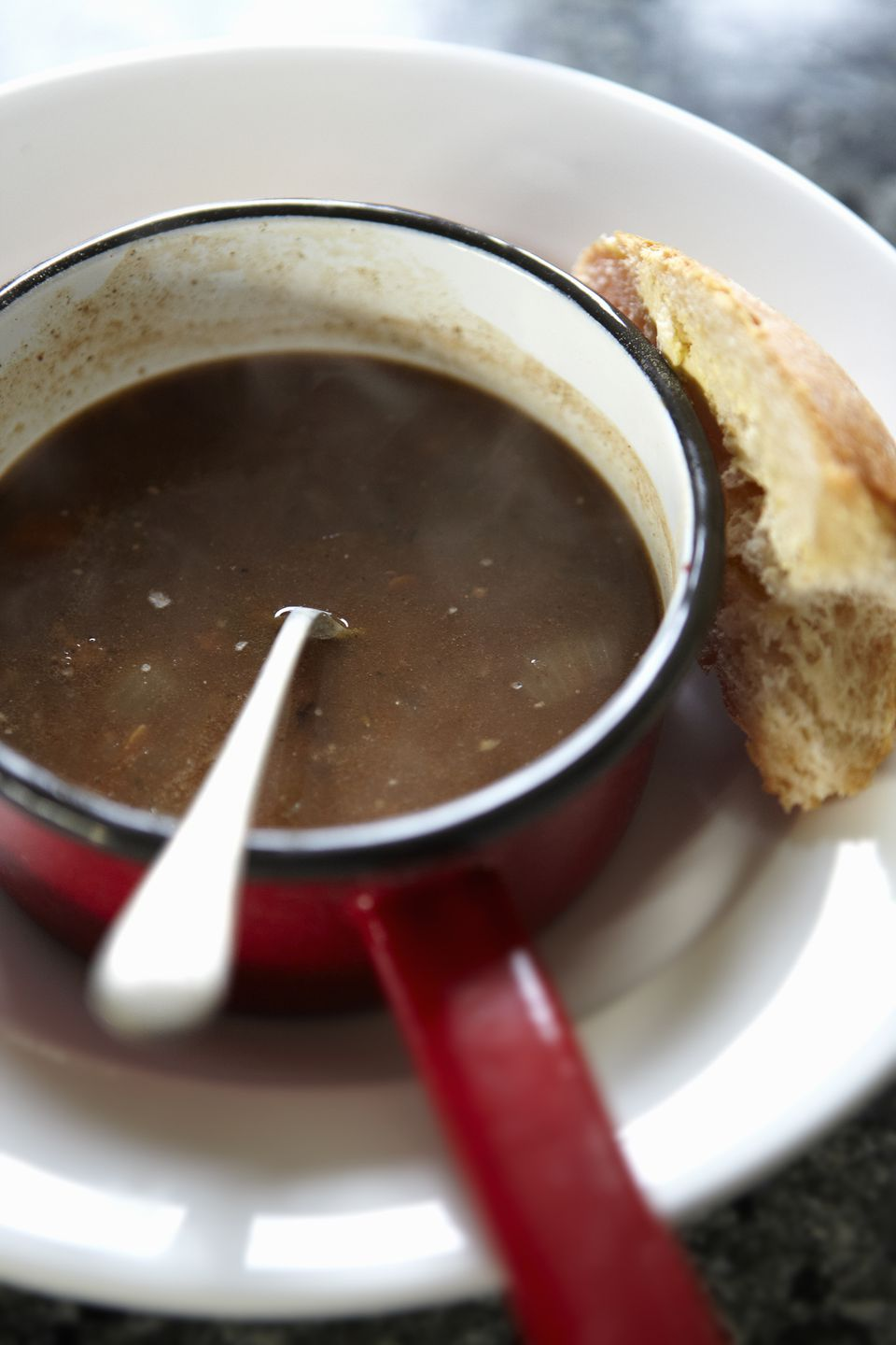 oxtail soup with bread
