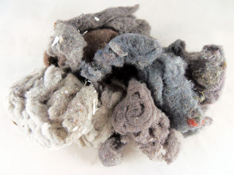 balled up dryer lint