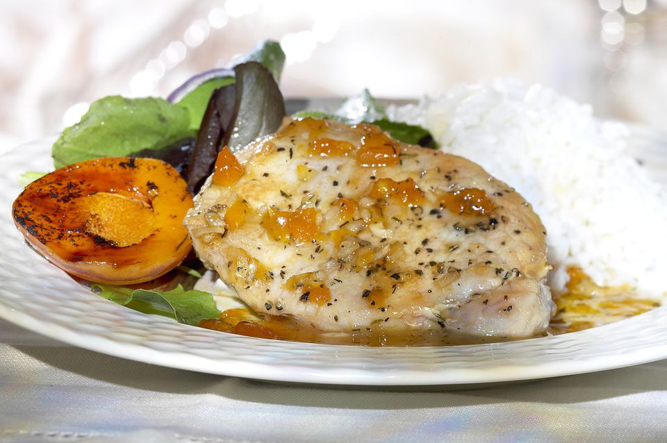 Baked Chicken with Apricots