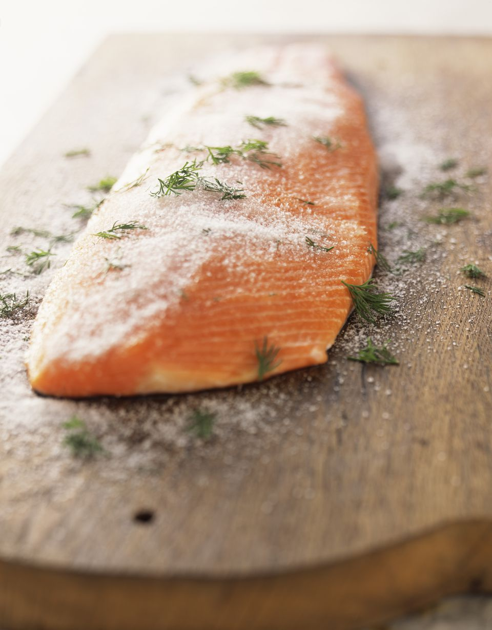 How to prepare gravlax for Salt cured fish