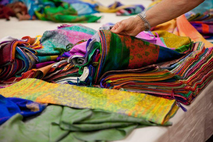 Indian fabrics.