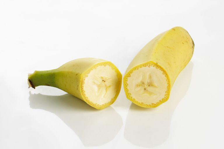 Banana Cut in Half