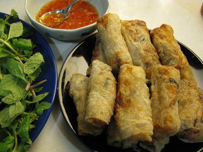 Frying Cha Gio