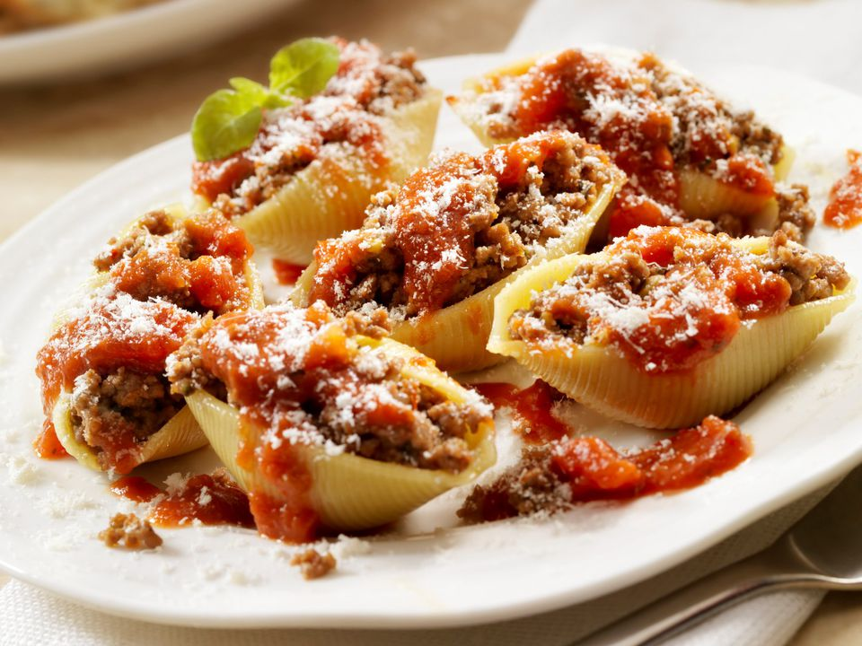 stuffed pasta shells with beef
