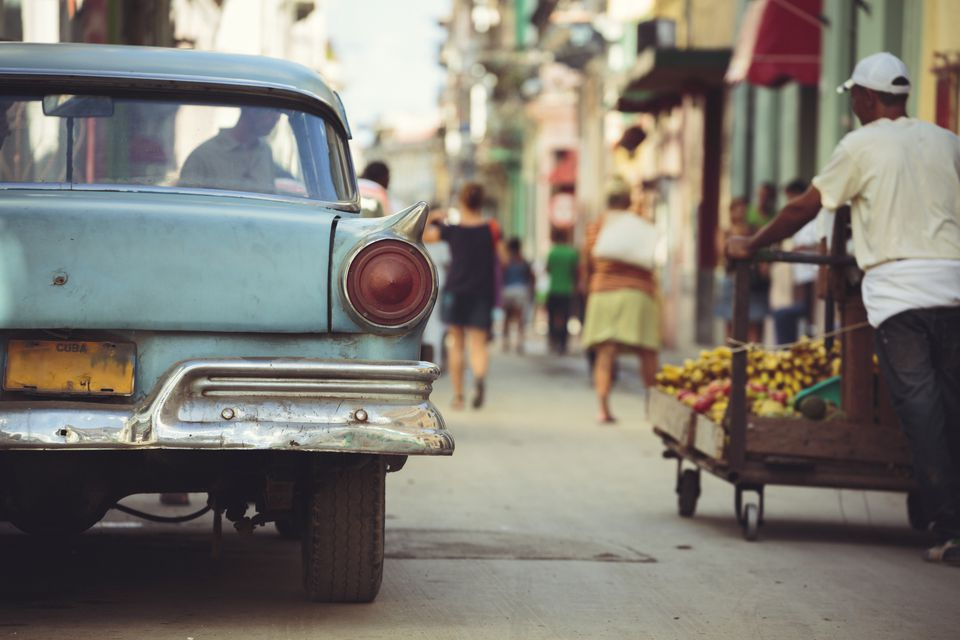 Street in Centro Habana in Havana, Cuba