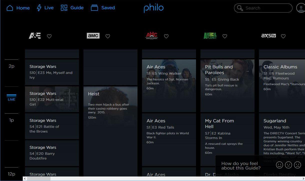 philo tv live tv guide