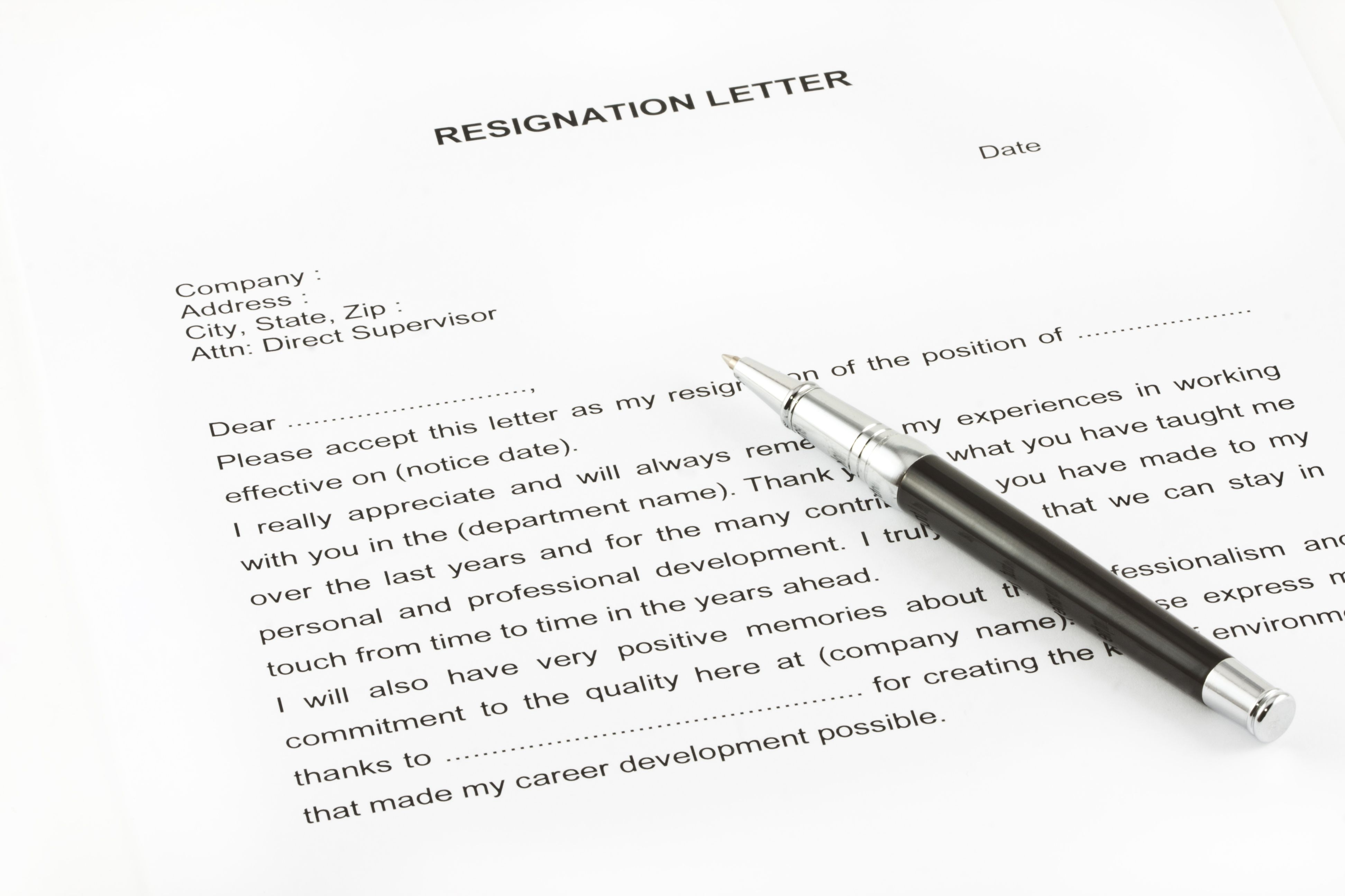 resignation letter due to conflict with boss