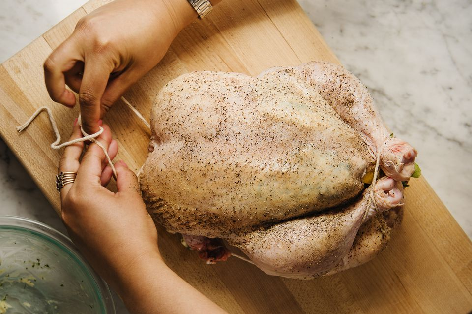 How to truss a chicken for roasting