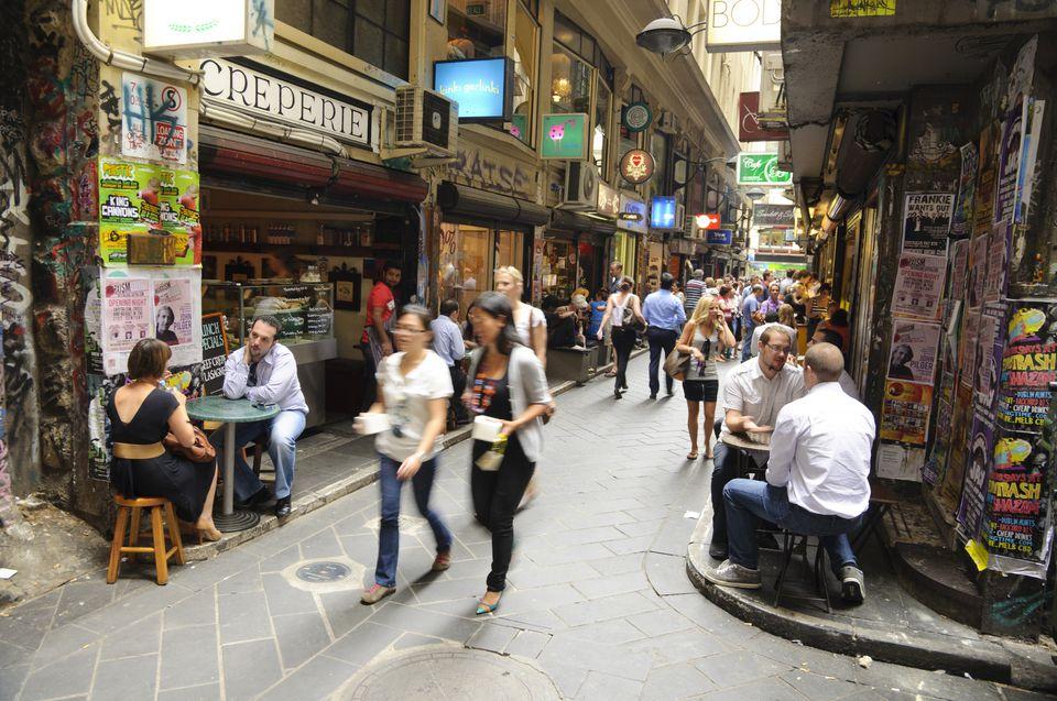 Centre Place, one of Melbourne's famous bohemian laneways.