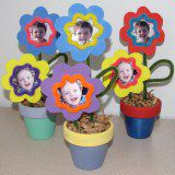 A picture of the flower pot babies art activity for kids