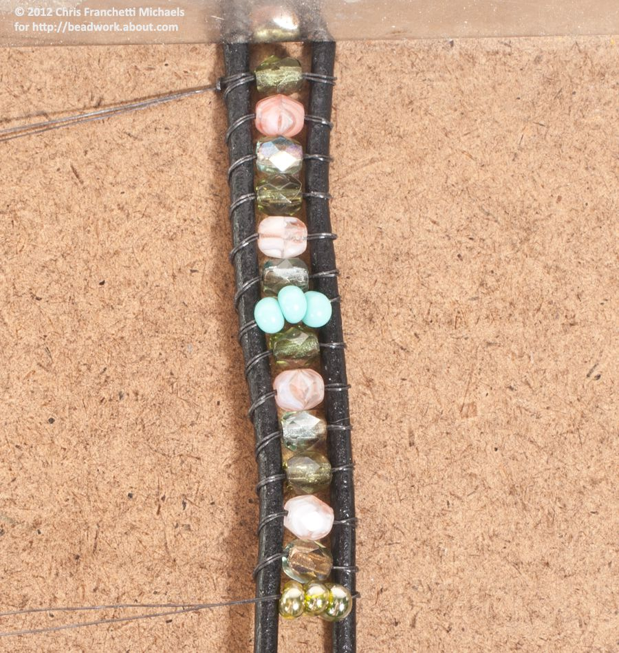 bead and leather wrap bracelet instructions
