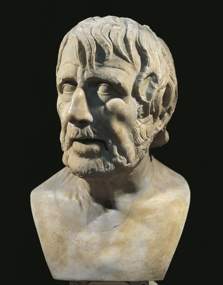 Marble bust of Lucius Annaeus Seneca (Corduba, 4 BC-Rome, 65), Roman philosopher and politician