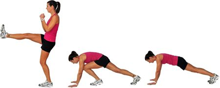 Front Kick Plank