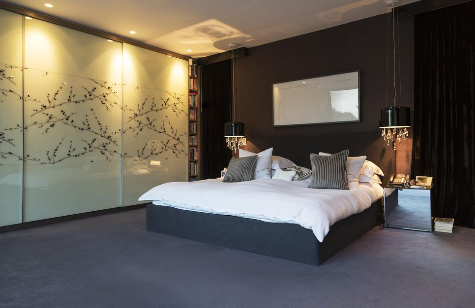 Asian influenced contemporary bedroom. Photos and Tips on Decorating a Contemporary Bedroom