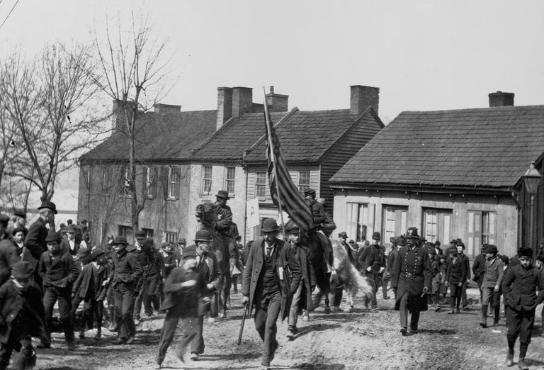 Photograph of marches in Coxey's Army