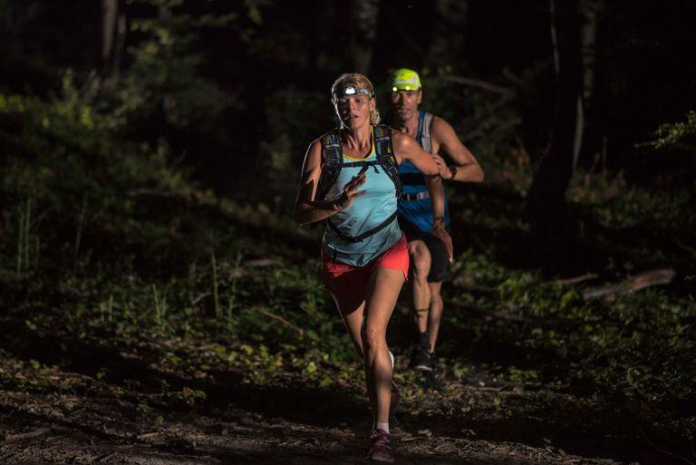 trail running at night