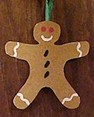 Sand Paper Gingerbread Man Ornament Craft