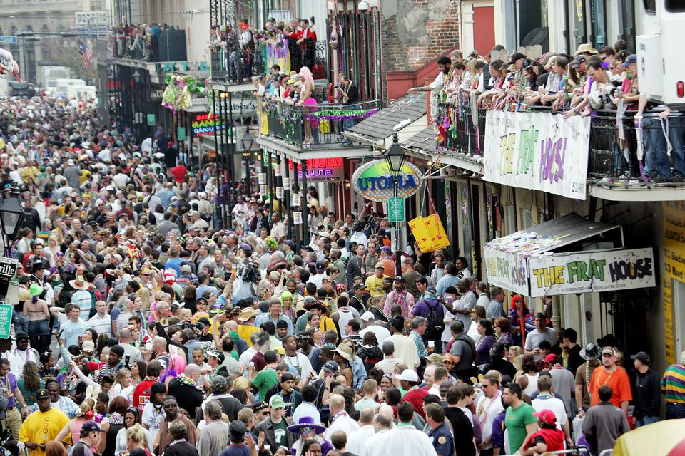 Celebrating mardi gras in New Orleans