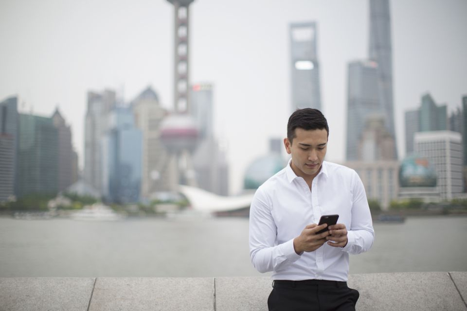using a mobile phone in china