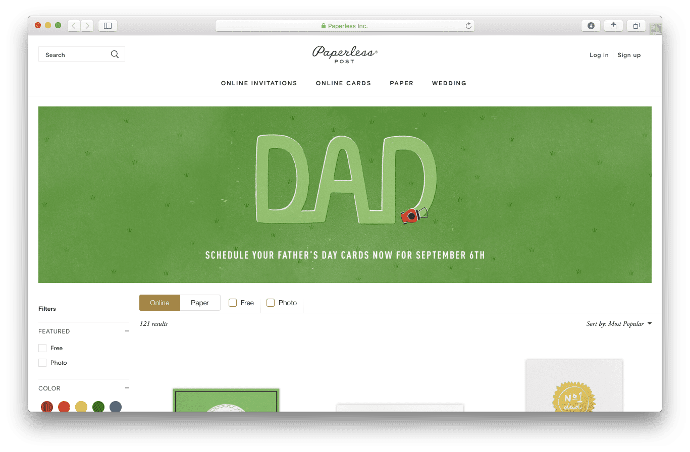 Top 30 Favorite Father's Day E-Card Sites 2017