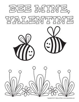make and takes valentines day coloring pages - Valentine Coloring Sheets