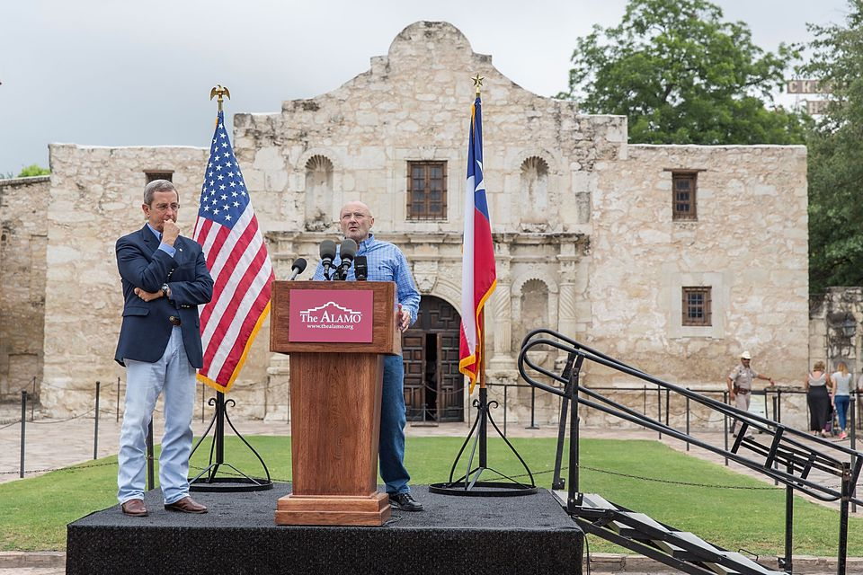 Phil Collins And Texas Land Commissioner Jerry Patterson Announce Donation Of Private Alamo Artifact Collection To The Alamo