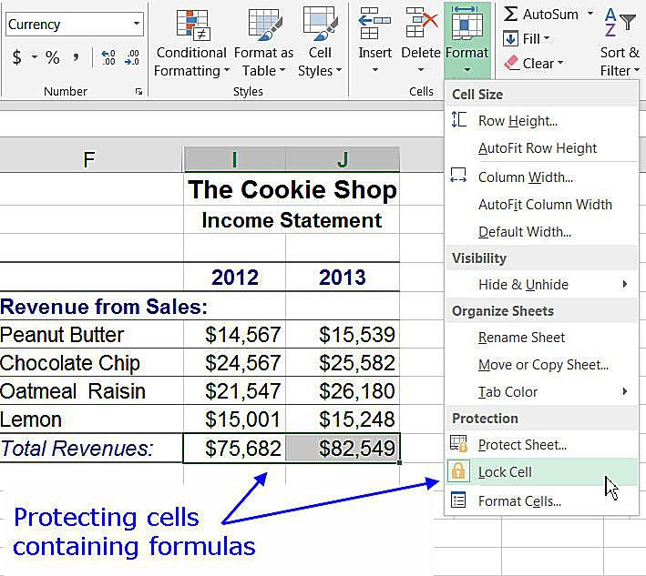 How to Lock Cells and Protect Worksheets in Excel – Protect Worksheet