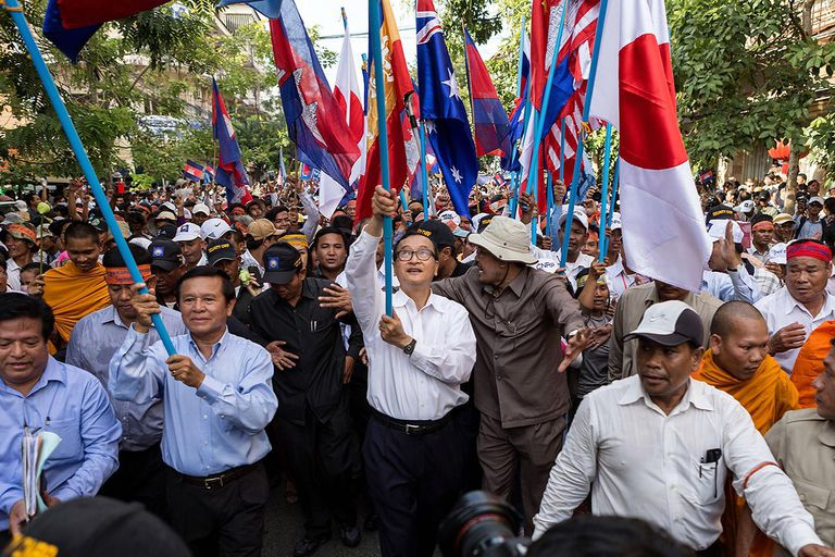 Cambodia's Opposition Supporters Hold Three-Day Mass Protests