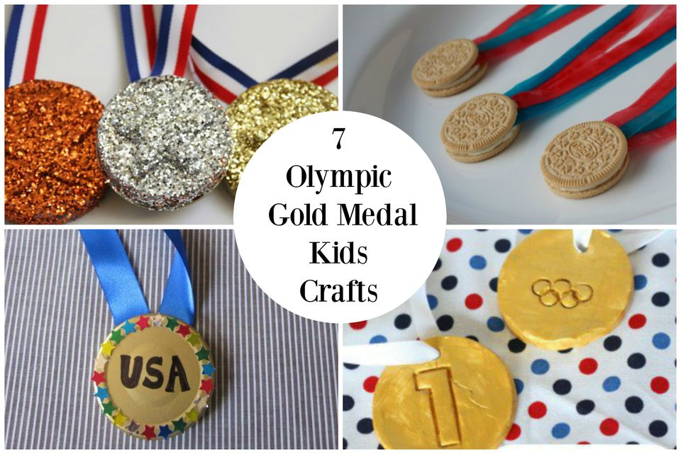 7 Olympic Gold Medal Kids Crafts