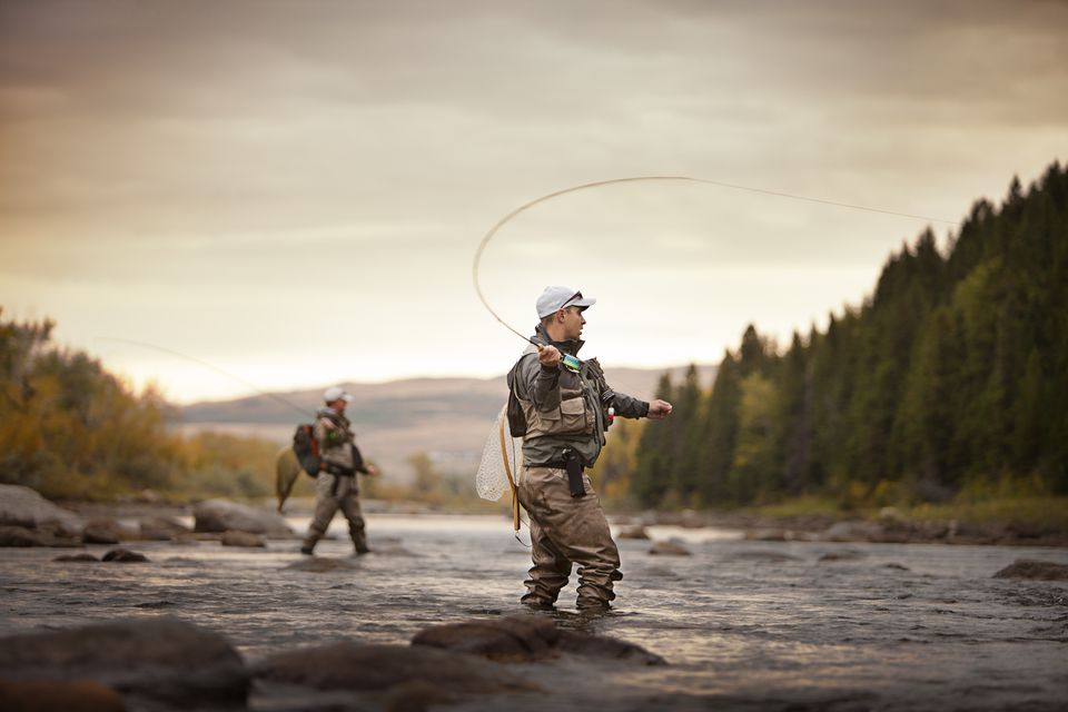 Two fly fishermen in a River