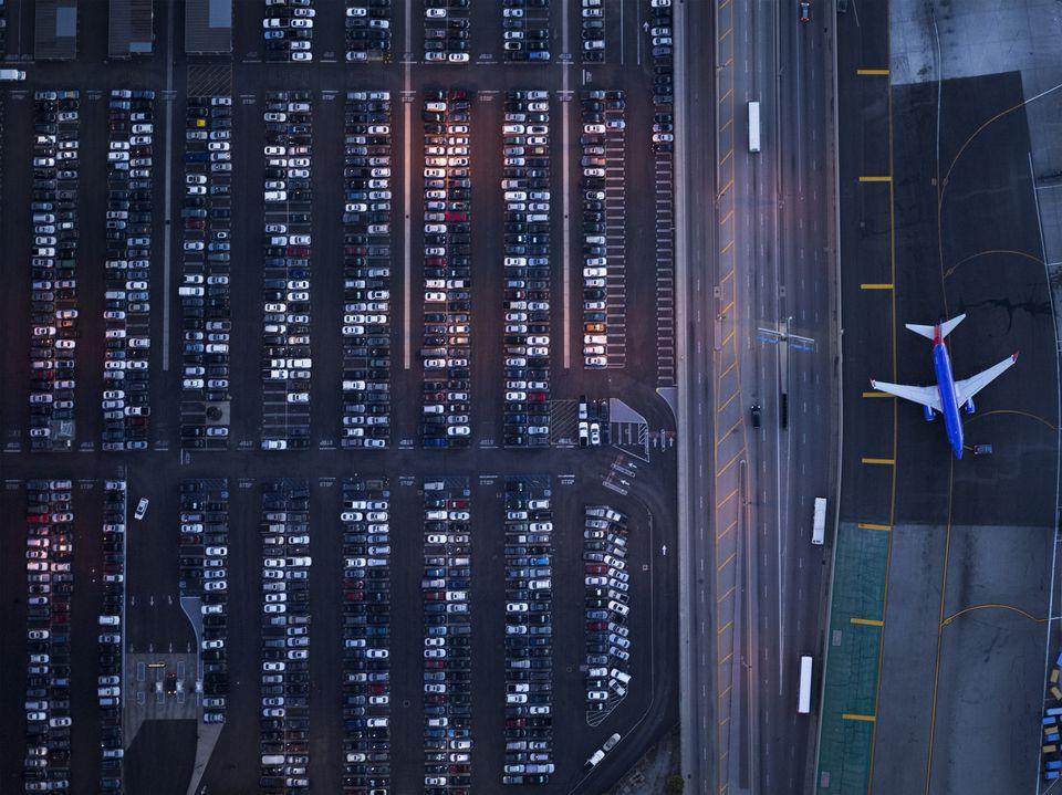 Parking lot of air terminal