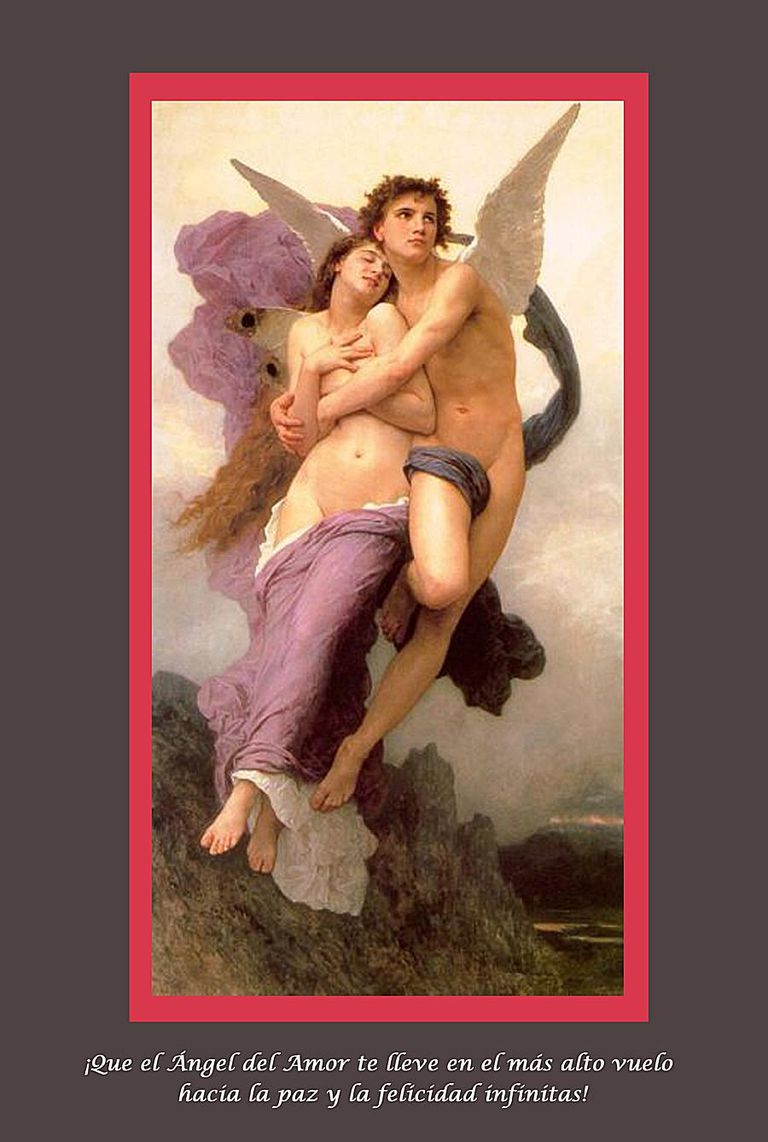 Le ravissement de Psyché (1895) por William-Adolphe Bouguereau