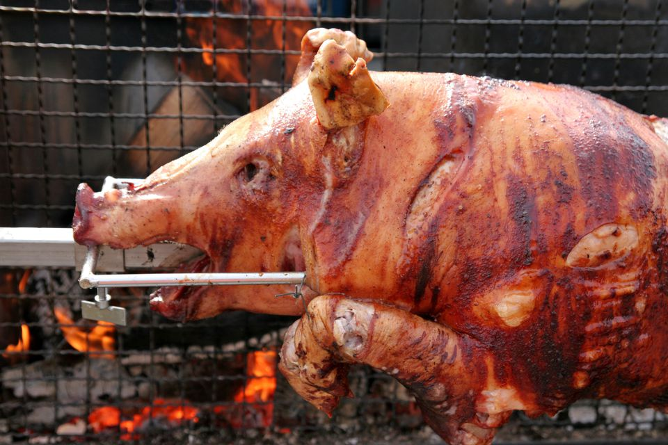 roast sucking pig (lechon)
