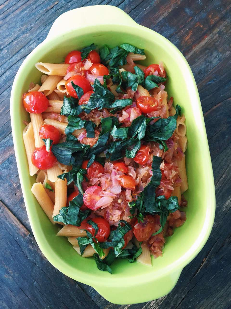 Gluten-Free Summer Penne with Tomatoes and Basil