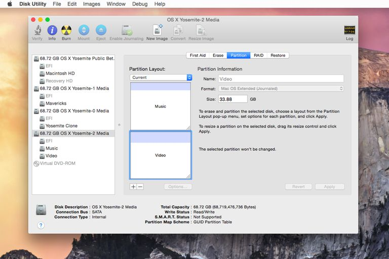 Disk Utility partition tool
