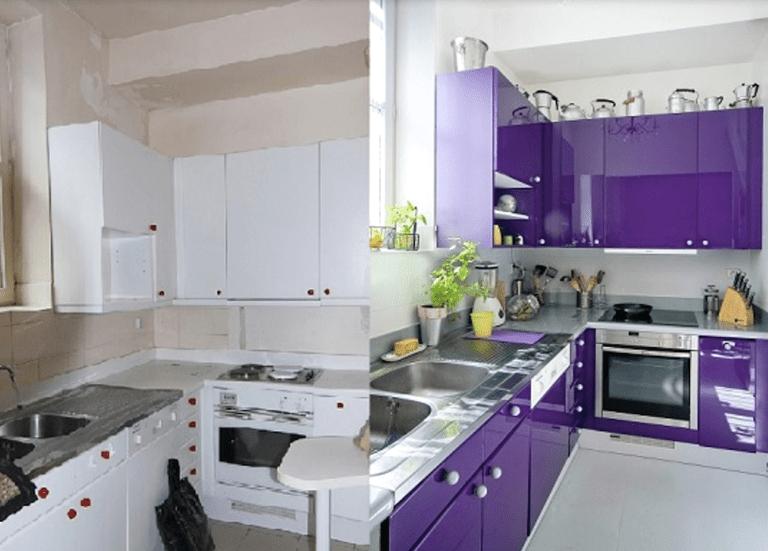 Cómo pintar los muebles de cocina?