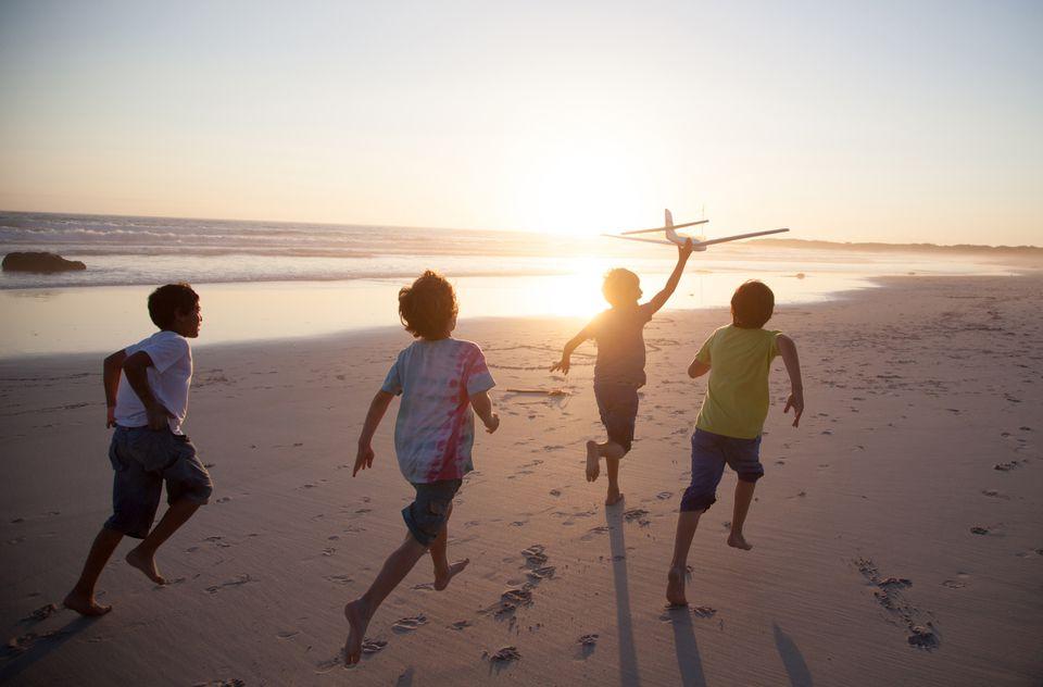 Kids on a beach