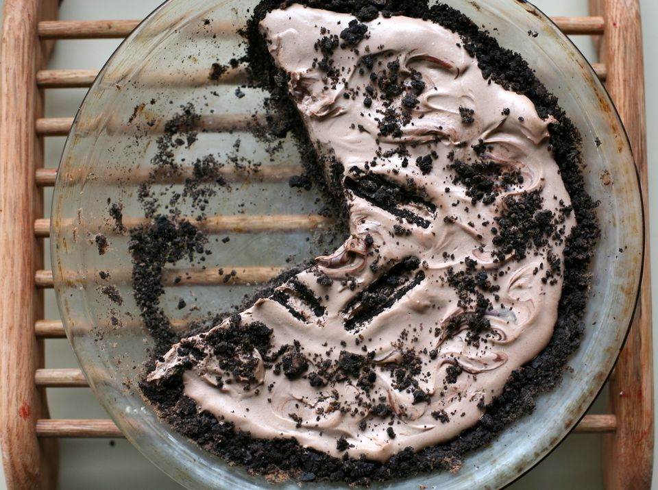 Vegan oreo pie