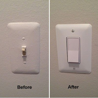 Bathroom Light Switch Quiet replacing a toggle light switch with a rocker switch