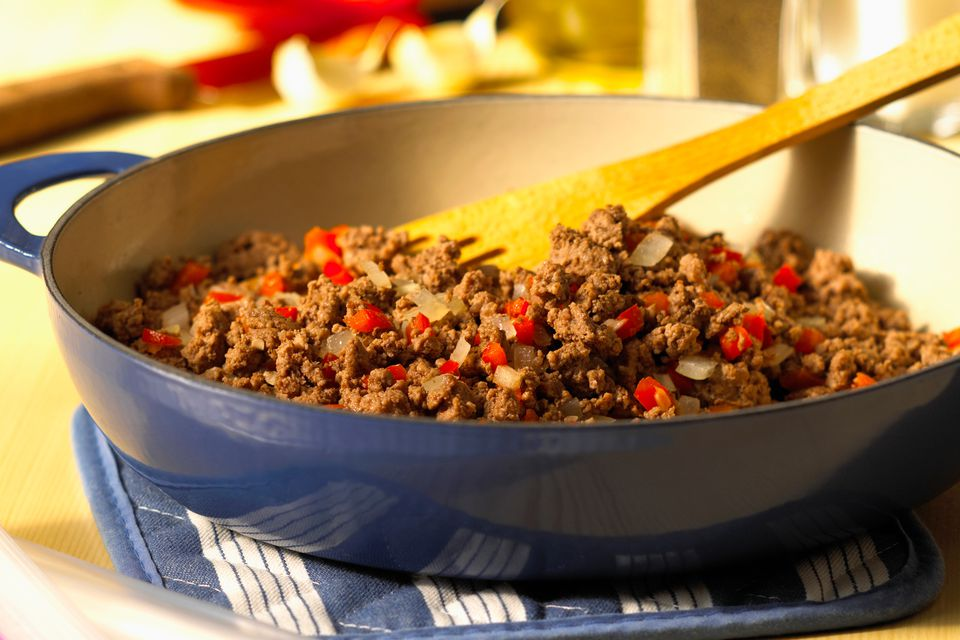 Browning Ground Beef for a Casserole