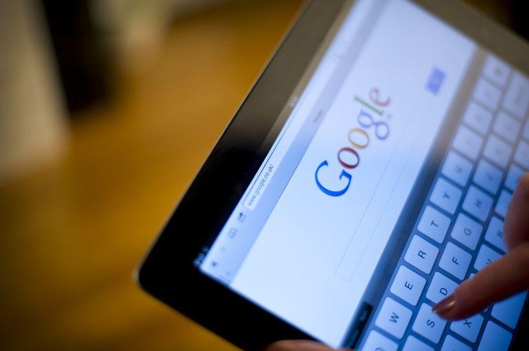 Google on iPad2 screen