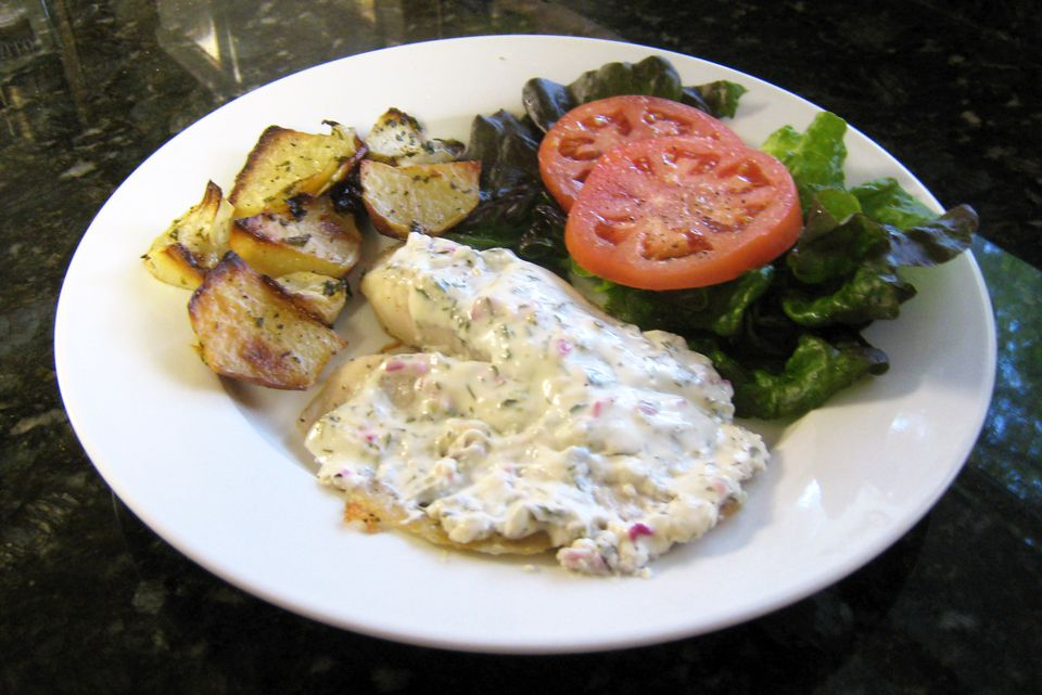 tilapia with sour cream dill sauce