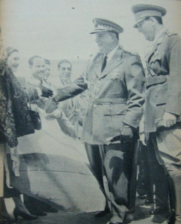 Somoza, with Argentine President Juan Perón