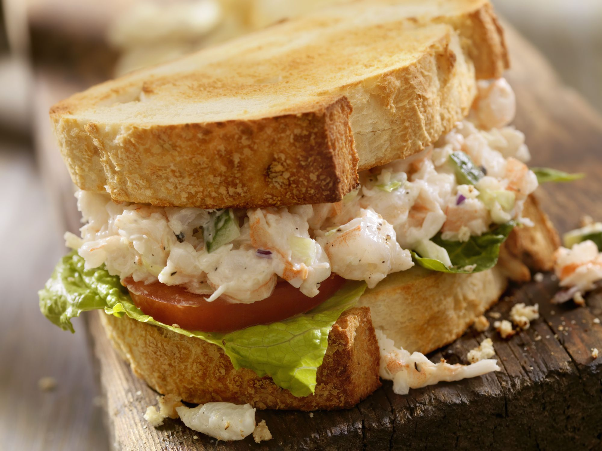 recipe: shrimp salad melt [13]
