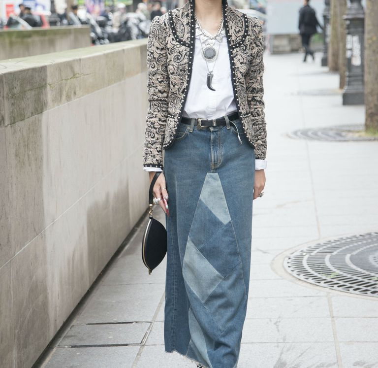 How to wear a jean skirt in every season