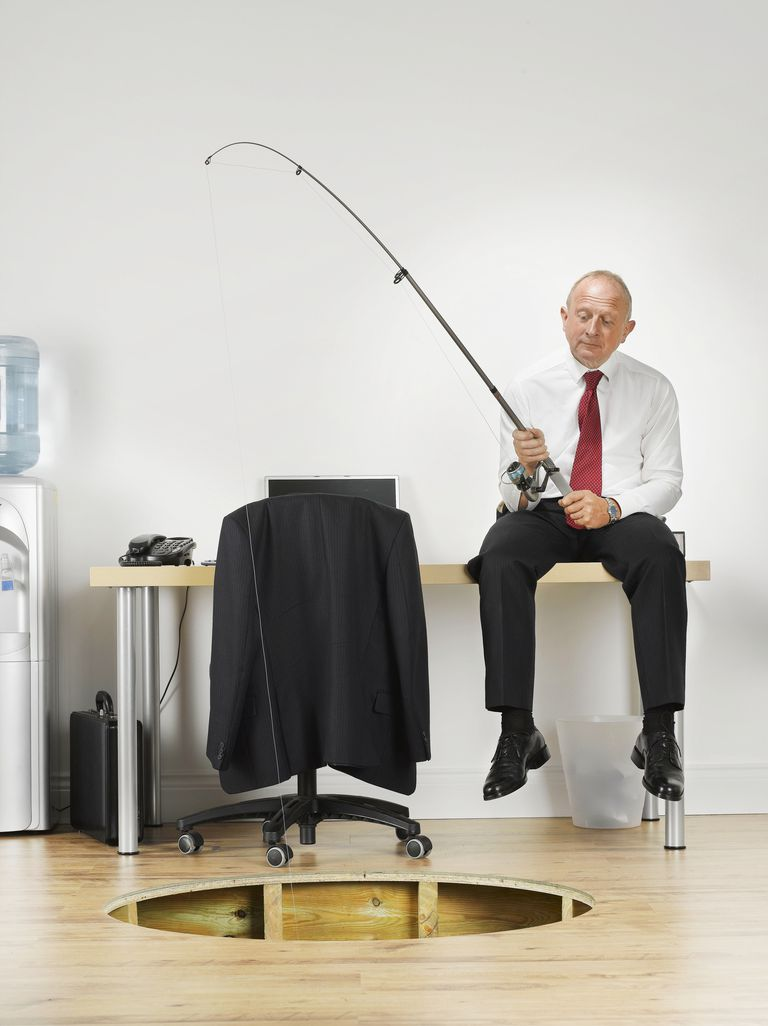 lawyer fishing for clients