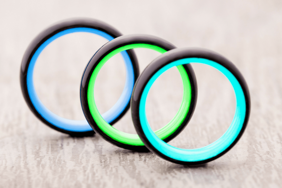 Something new carbon6 glow in the dark wedding rings for Glow in the dark wedding rings