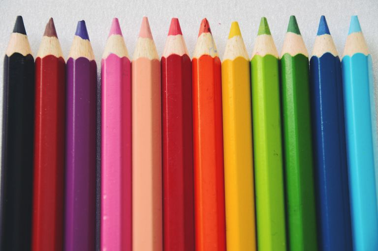 colored pencils. full frame shot of colorful pencils colored r