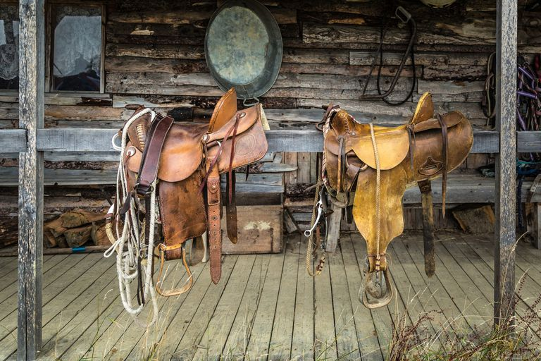 Hand made leather saddles